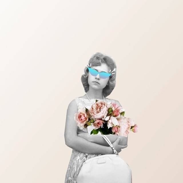 Digital painting animation, flowers, spring, Sunglasses