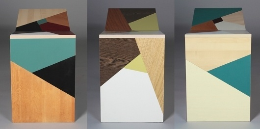 tête-à-tête : Claudia Kappenberger #geometric #wood #furniture #handmade #vintage #sitting #tte #patchwork
