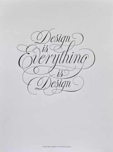 Doyald Young Poster by joshwhiggins on Etsy #calligraphy #lettering #design #everything