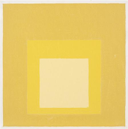 #color #DesignHistory || Josef Albers Homage to the Square, 1969 oil on masonite 16 × 16 in. (40.6 × 40.6 cm) 1976.1.198