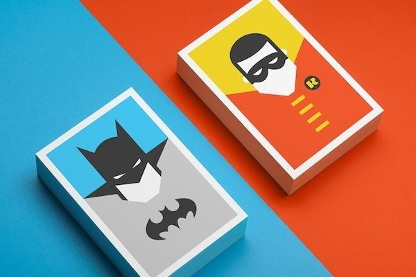Colorful, Minimalist Postcards Of Superheroes #robin #batman #colorful #superheroes #minimalist #postcards