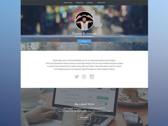 Personal Website PSD Template