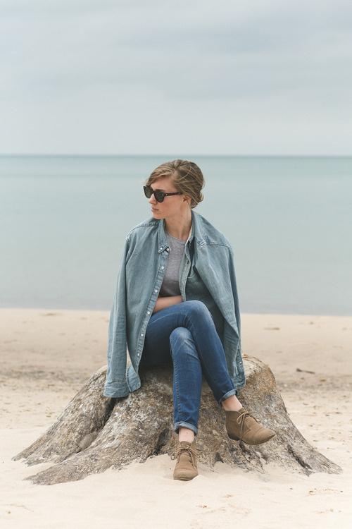 Denim | Lake Michigan, MI. #fashion #photography #portrait