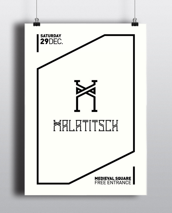 Malatitsch ID #design #graphic #brand #medieval #artists #poster #street