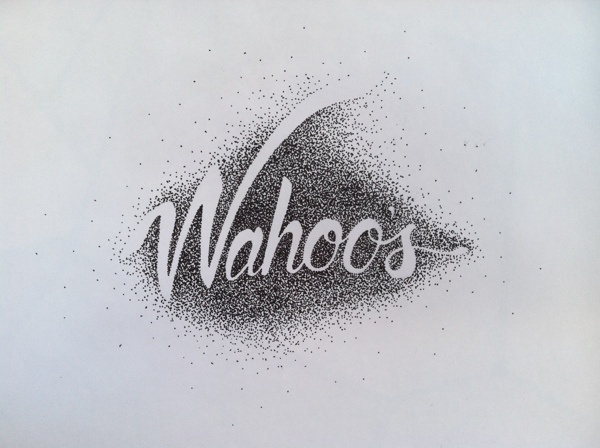 Selected Typographic Works on Behance #handlettering #script #stipple #typography