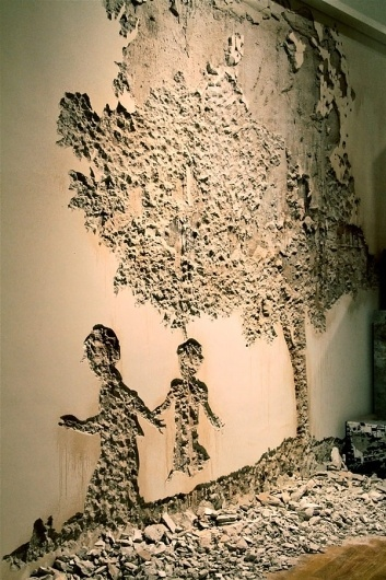 Vhils & MaisMenos at MACE » Design You Trust – World's most famous collective design inspirations. #grafitti #maismenos #mace #vhils #art