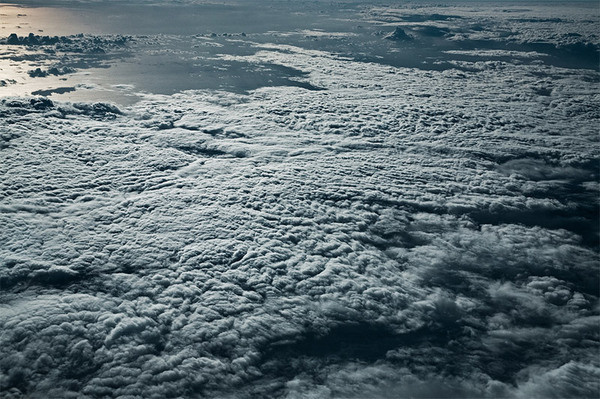 Sea of Clouds: Expansive Cloud Formations Over the Mediterranean and Caribbean Seas by Jakob Wagner #ocean #sun #clouds #aerial #birds #eye #fly #beautiful #view