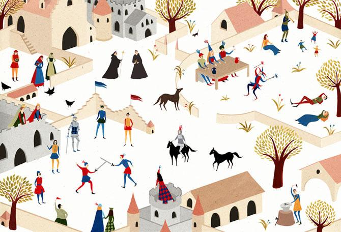 MEDIEVAL CASTLE - lara hawthorne #illustration #castle