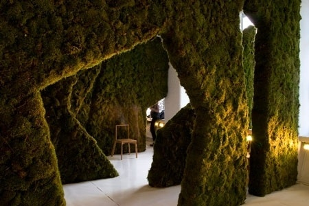 Indoor Forest at The Architecture Foundation   B3 Designers Blog #forest #indoor #moss
