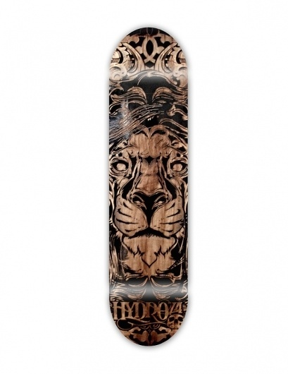 Lasered & Etched on the Behance Network #deck #lion #skate