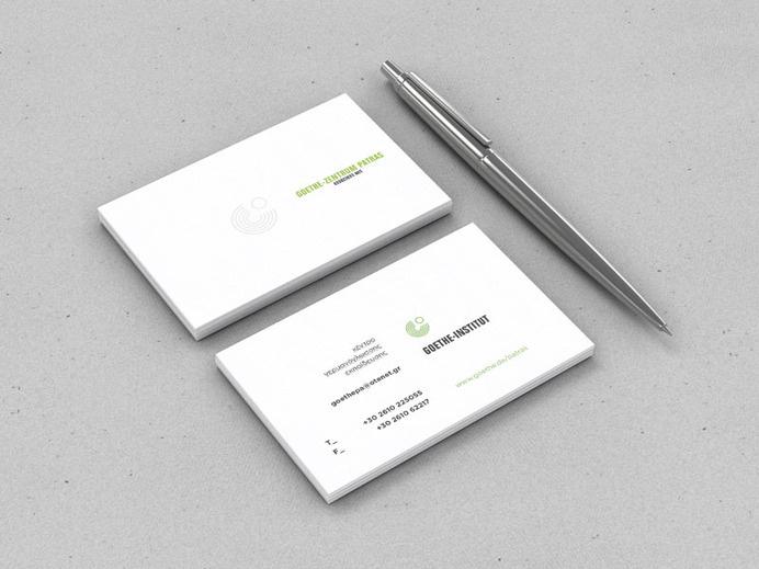 Goethe Zentrum - Patras - grab.the.eye | design & visual communication #card #institute #stationery