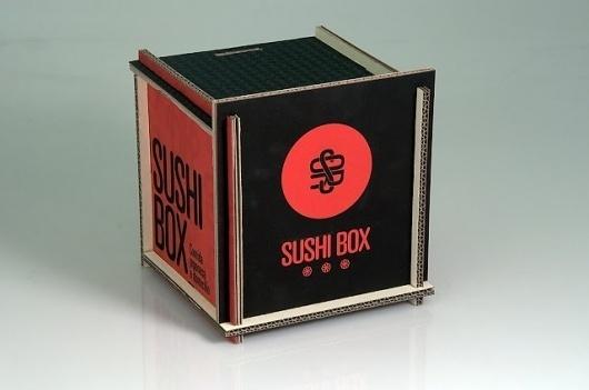 /Sushi Box | acidozitrico #white #red #packaging #sushibox #black #box #sushi