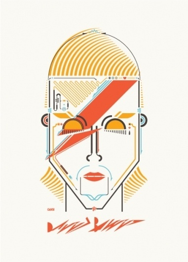 Leandro Castelao #vector #illustrator #geometric #poster #bowie