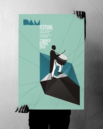 projectgraphics - typo/graphic posters #kosovo #festival #event #prishtina #projectgraphics #poster #2010 #dam