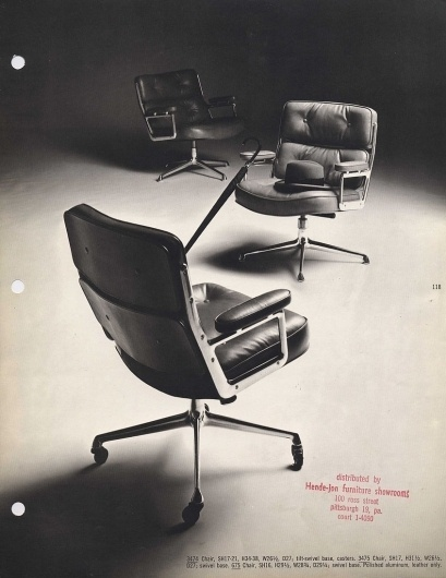 1961: Eames Time-Life Chairs #interior #modern #chair #design #ray #leather #charles #midcentury #eames