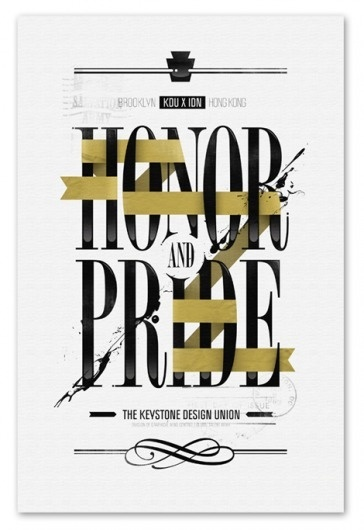 grain edit · André Beato #pride #andre #honor #beato #poster #and #type
