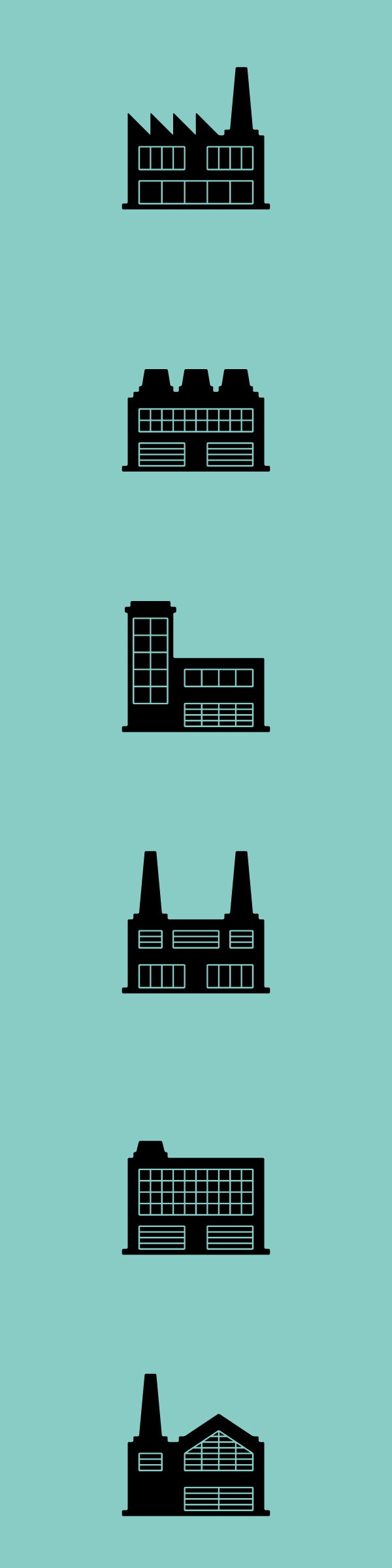 Factories #factory #icons #pictogram