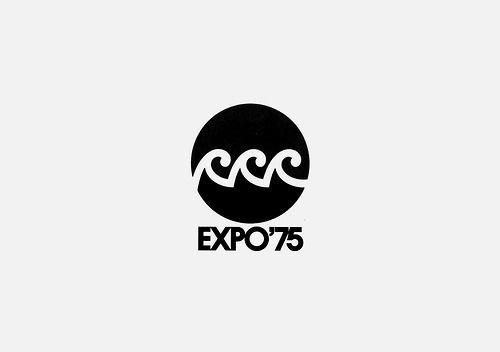 Kazumasa Nagai (Japan), Okinawa Ocean Expo, 1975 #kazumasa nagai #okinawa ocean expo #logo #design