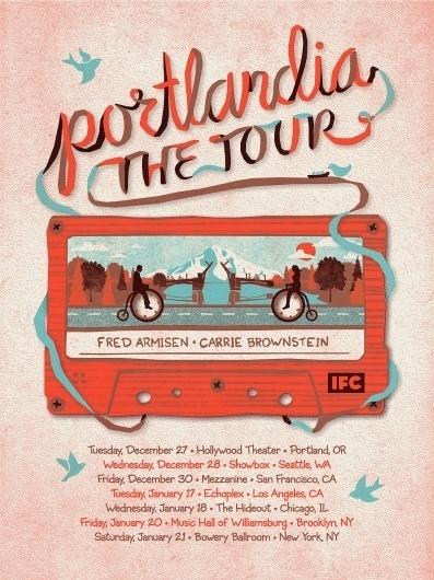 "DKNG Studios » ""Portlandia, The Tour"" Poster #type #dkng #portlandia #poster"