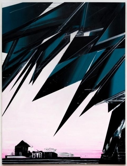 Phil Ashcroft // WORKS - Paintings #abstract #illustration #jagged #painting