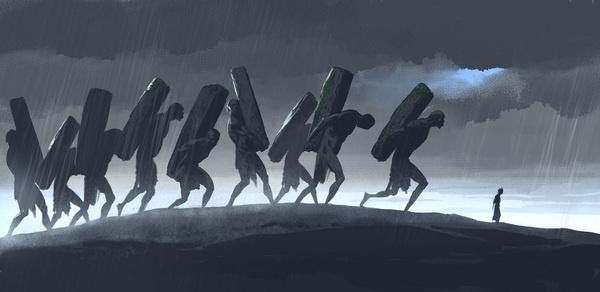 Jack the Giant Slayer - Concept Art by Adam Brockbank #giant #slayer #the #illustration #concept #jack #art #myth