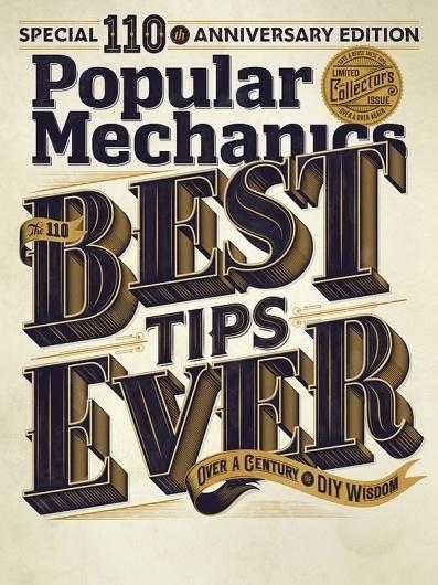 Popular Mechanics 110th Edition on the Behance Network #lettering #mechanics #popular #magazine #typography