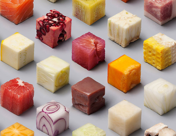 Perfect Food Cubes by Lernert & Sander #cubed