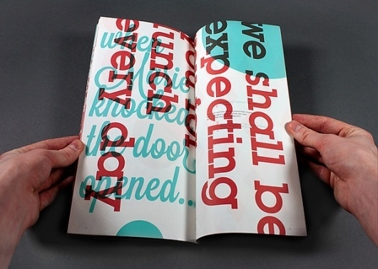 The Waitress on the Behance Network #fold #red #experimental #nicholson #gary #french #blue #overprint #typography