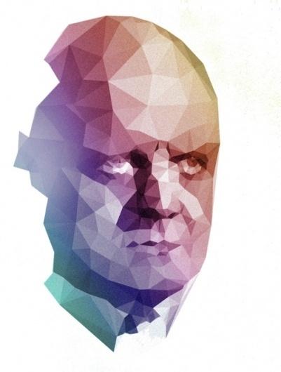 tumblr_lfhkg48SpL1qz4izzo1_r1_500.jpg (JPEG Imagen, 500x660 pixels) #colors #polygon #portrait