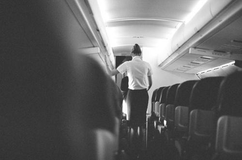 DΛRKSHΛPES #flight #airplane #stewardesses