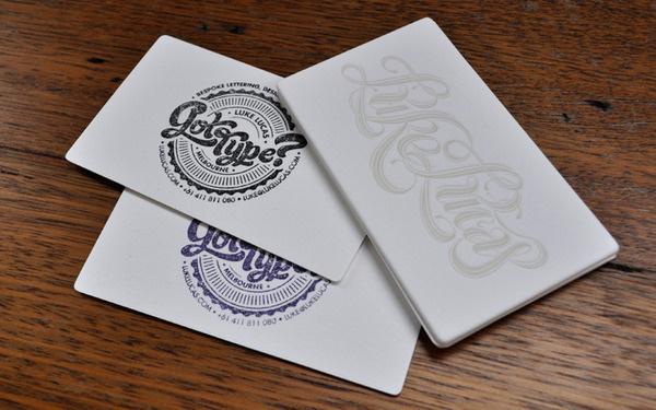 GLOWING LETTERPRESS FOR LUKE LUCAS #stamp #script #business #branding #luke #card #letterpress #identity #lucas