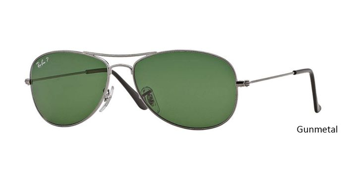 """Ray-Ban Rb3362 Polarized Cockpit - Gunmetal With Special discount offer get 45% holiday discount on all ray ban! Coupon code: """"RB-HD45"""" valid for one month."""