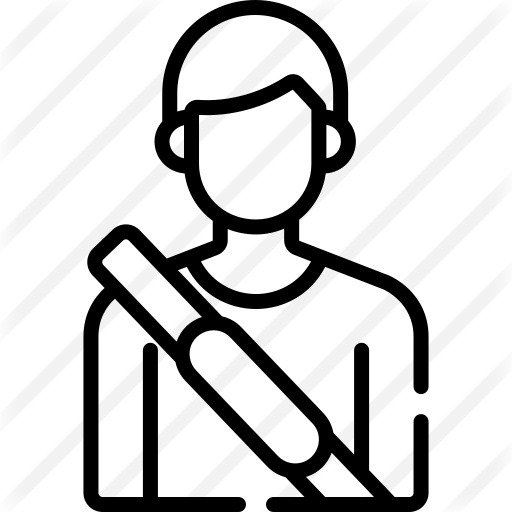 See more icon inspiration related to driver, seat belt, passenger, user, avatar and man on Flaticon.