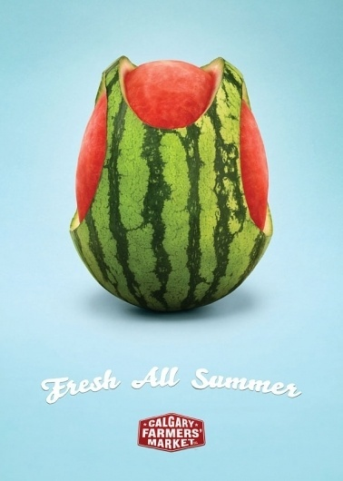 ADVERTISING | Trendland: Fashion Blog & Trend Magazine - Part 4 #advertisement #fruit #watermelon #market
