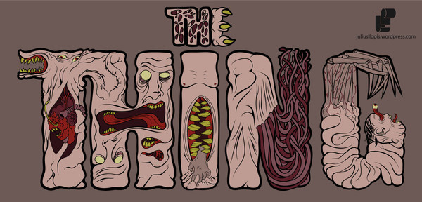 Vectorial   juliusllopis #alien #gore #teeth #gruesome #horror #the #thing #film #typography
