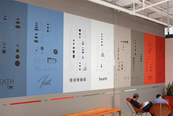 Timeline Mural : Livia Foldes #ceramics #heath #design #graphic #environmental #graphics
