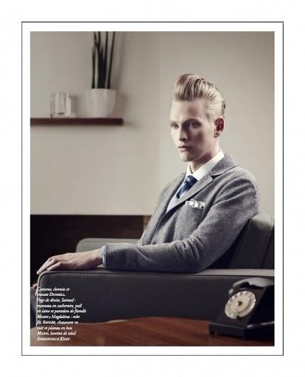 Gerhard Freidl, Tobias Brahmst & Samuel Daynie by Thomas Laisné for Apollo Novo #post #process #hair #photography #vintage #fashion