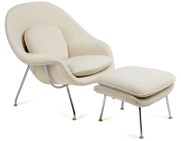 womb chair & ottoman #chair #ottoman