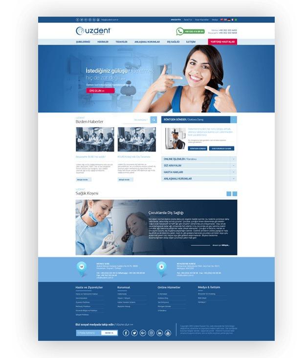 Uzdent Web Sitesi Tasarımı