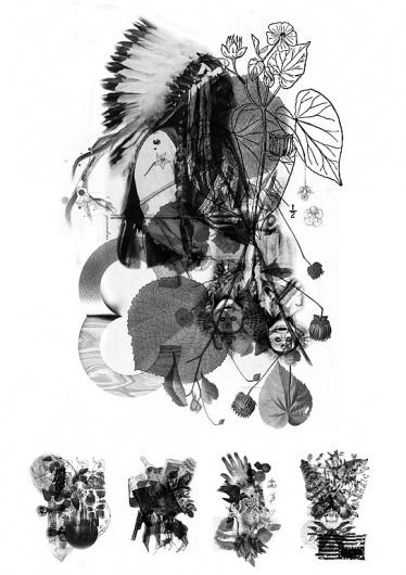 Thea Manipulatus : A Book of Teas & Potions by Tuscani Cardoso #plants #recipe #book #voodoo #art #tuscani #collage #potions #editorial #aphrodisiac