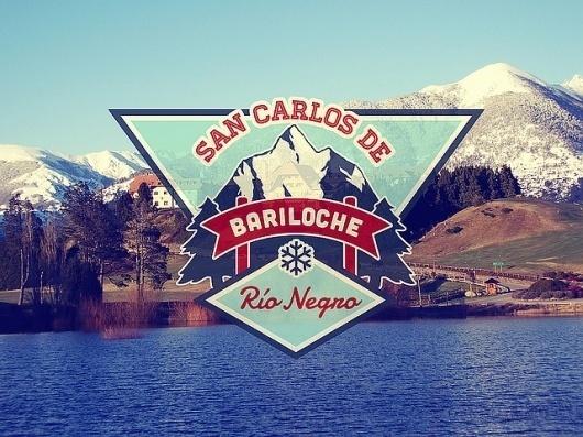 San Carlos de Bariloche | Flickr: Intercambio de fotos #mountain #labels #spines #snow #badges #logo