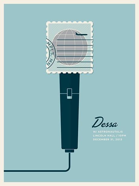 Dessa #illustration #gig #poster #microphone