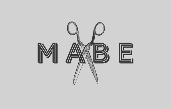 MABE – Studio Band #lettering #stylist #scissors #hair #type #bevel #shadow