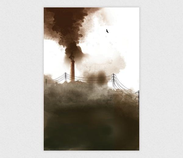 Smoke #smoke #design #graphic #illustration #poster