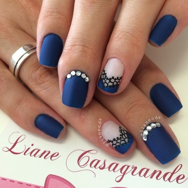 Best Nail Art 30 Dark Blue Images On Designspiration