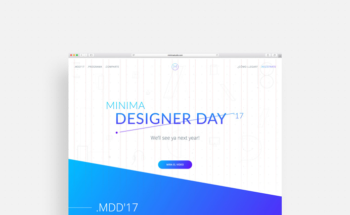 Minima Designer Day #landing #page #designer #day #event #conference #annual #graphics #colors #maracaibo #venezuela #graphicdesign #dot #li