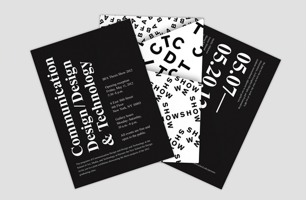 Parsons Thesis Show #prints #branding #identity #poster #logo