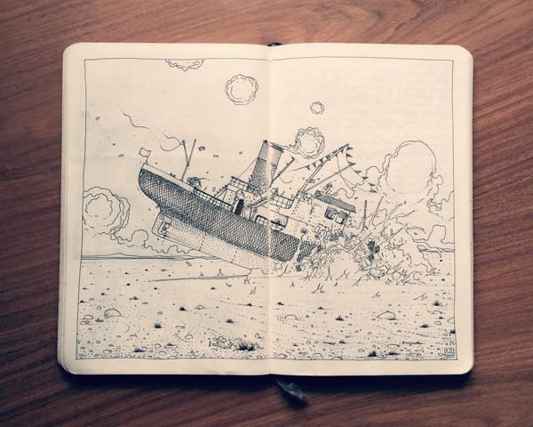 1.2 Sketchbook 2014 on Behance https://www.behance.net/gallery/17230953/12-Sketchbook-2014 #sketchbook