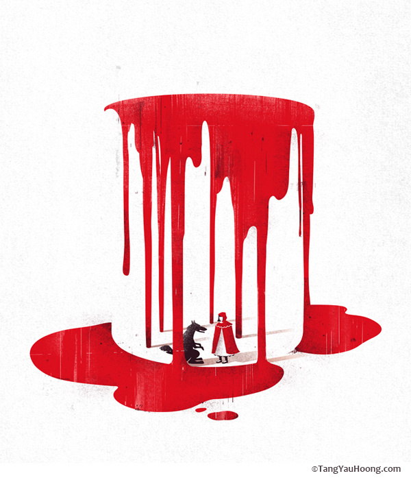 The Art of Negative Space: Part II on Behance #riding #hood #red #poster