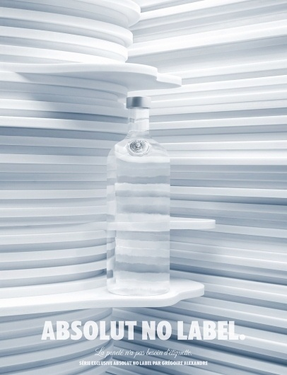 Absolut: No label | Ads of the World™ #white #clear #label #blue #absolut
